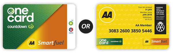AA Smartfuel and Countdown One Card