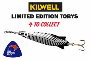 Kilwell Limited Toby Lures - 4 to collect - Nov to Feb 2021