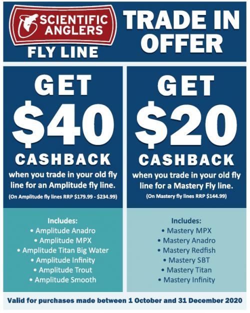 Scientific Anglers trade in your old fly line and get $40 cashback